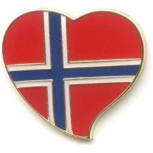 Königreich Norwegen Norway Heart Badge Oslo Herz Button Pin Pins Anstecker 550