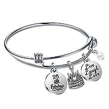 Regali di compleanno per lei Braccialetti con braccialetti per donna Ragazza dal vivo Ridi dal 10 ° al 70 ° (25° Compleanno)