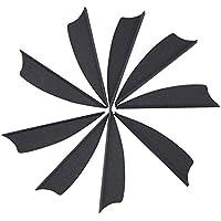 """SHARROW 100pcs Plumas para Flechas Plásticos Fletchings 2.5 Pulgadas / 1.75 Pulgadas Plumas de Flecha para la Caza con Arco (Negro, 2.5"""")"""