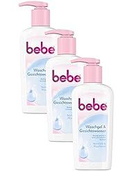 bebe Waschgel & Gesichtswasser / Sanfte Gesichtsreinigung für Normale bis Mischhaut / 3 x 200ml