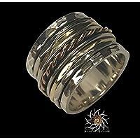 Spinner Ring - Meditationsring - Anti Stress Ring - drei Metall Ringe - Multi Metall Ring - gemischte Metall Ring - Unisex Ring - Yoga Ring