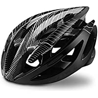 Flowerrs Casco Scooter Casco Ajustable para Adultos Casco de ventilación poroso Casco de Bicicleta Ultraligero (Negro) Skate Helmet