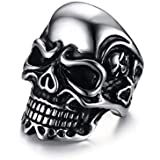 Men silver ring on a skull-shaped Size 8