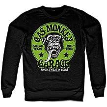 Officially Licensed Merchandise Gas Monkey Garage - Green Logo Sweatshirt (Black)