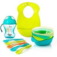 Tommee Tippee Explora Feeding Kit Including Bib (Blue)