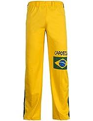 Unisex Amarillo Brasil Capoeira Artes Marciales Abada Elástico Pantalones 5 Tallas (XL)
