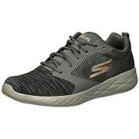 Skechers Men's GO Run 600 55081 Sneaker, Charcoal/Orange, 10 M US