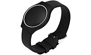 Misfit Shine Leather Band Watch Strap - Black