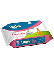 Little's Soft Cleansing Baby Wipes with Aloe Vera, Jojoba Oil and Vitamin E (80 Wipes)