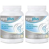 Epaplus Colágeno + Ácido Hialurónico y Magnesio Polvo Limon - Paquete de 2 x 332 gr