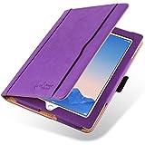 iPad 4 (Retina Display), iPad 3 & 2 Case, JAMMYLIZARD The Original Purple & Tan Leather Smart Cover