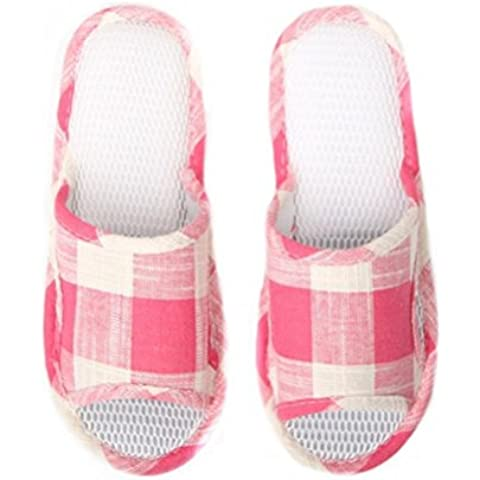 ZHLONG Ladies maglia pantofole casa Leisure indoor pavimentazione antiscivolo pantofole