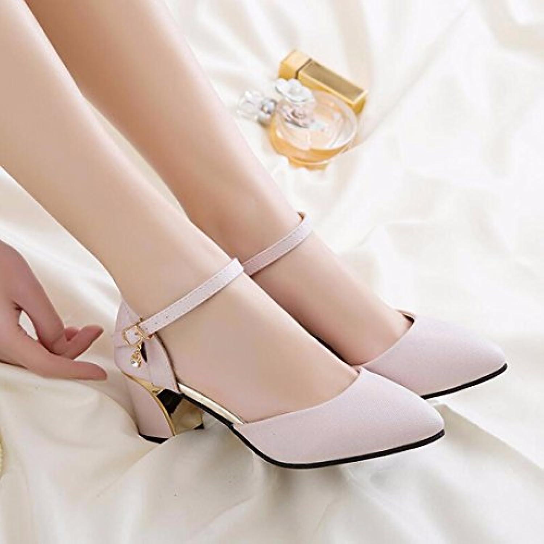 JRFBA-Chaussures pour femmes lycée forte tête et lycée femmes baotou sandales, du printemps et de l'été. - B07DG1RQVT - 837f2f