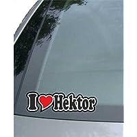 Sticker mit Namen vom Mann Frau Kind Auto LKW Truck I Love Hektor Aufkleber//Autoaufkleber I Love Heart INDIGOS UG Ich Liebe mit Herz 15 cm