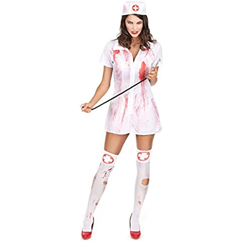 Disfraz de enfermera Halloween psychopathe Mujer