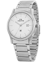 Maxima Attivo Date White Dial MEN -O-46865CMGI