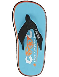 Cool Shoes Original Pi Curacao, Azul flip–Sandalias de piel de estilo azul Talla:37/38