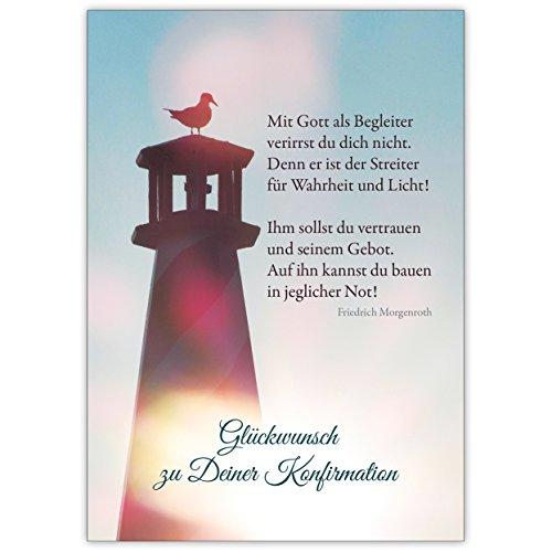 er. - schöne, moderne Glückwunschkarte zur Konfirmation mit Morgenstern Zitat ()