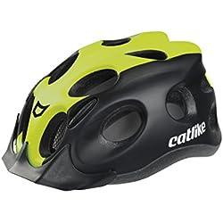 Catlike Tiko Casco de Ciclismo, Unisex Adulto, Negro/Verde Lima, M/55-61 cm