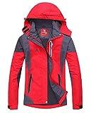 Toyobuy Femme Anorak de Sport Coupe Vent imperméable Manteau de Ski Randonnée