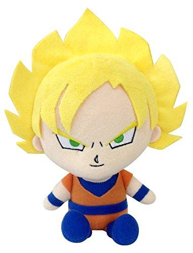 Bandai DBZ Dragon Ball Kai Mini poupée en Peluche - 20,3 cm Super Saiyan Son Goku en Peluche
