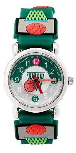 BHGWR Kinder und Jugendliche Analog Quarz Uhr mit 3D Silkon Armband 3 Bars Wasserdicht Kinderuhren für kleine Mädchen Jungen