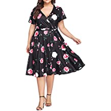 SELUXU Elegante Casual Vestido,Verano Suelto Vestido,Vestido Fiesta Mujer Largo Boda, Mujer
