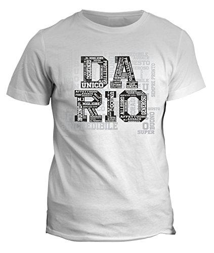 Tshirt Compleanno Dario nome del festeggiato maglietta unica e originale - eventi - idea regalo in cotone Bianco