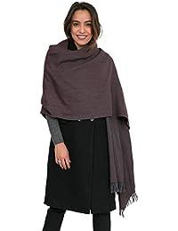 Herringbone Handloom Merino Wool Pashmina Scarf