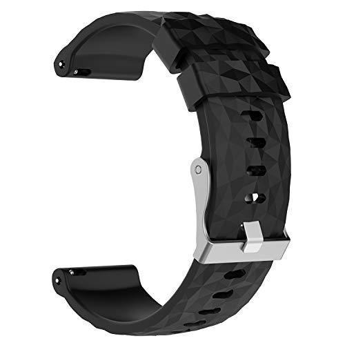 XIHAMA Ersatzarmband für Suunto Spartan Sport Handgelenk HR Baro Activity Tracker, Silikon Fitness Sport Armband für Suunto 9(Schwarz)
