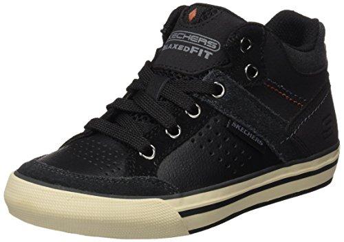 Skechers Jungen Planfix-Brockwood Hohe Sneakers Schwarz (Blk)