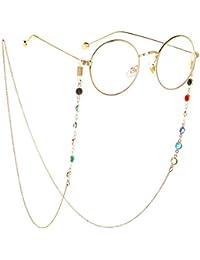 Lesebrille Lanyards mit Anti-Rutsch-Gummiring Brillenkette f/ür Damen Eyewear Retainer Strap Lady Halskette Sonnenbrille Cord