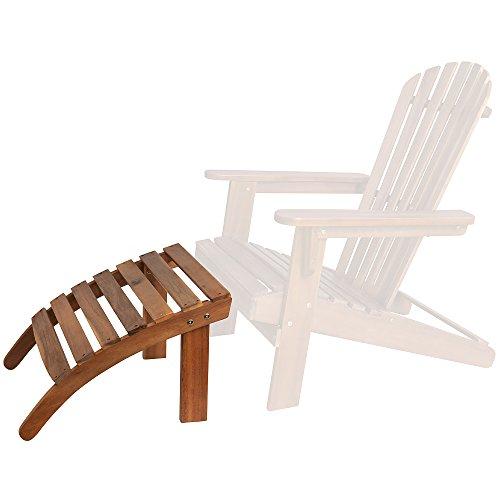 Deuba® Sonnenstuhl Adirondack Fußstütze aus Akazienholz | bequem | 7 Streben | In- & und Outdoor