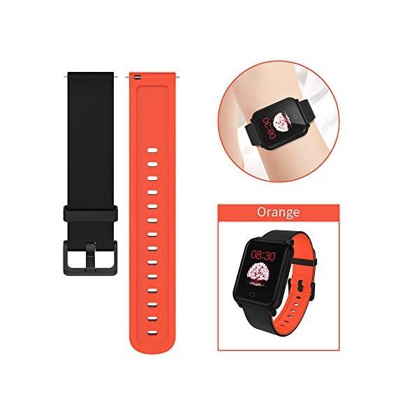 Fitpolo Bandas de reemplazo de Silicona H706 Fitness Tracker, Correa de Pulsera Activity Tracker, No Tracker (Paquete de… 3