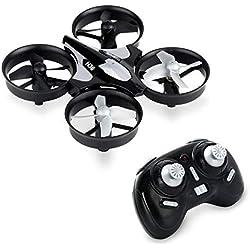 KYG Mini Drone Quadricottero Telecomando UFO Quadcopter LED Giroscopio 6 Assi Ricaricabile Modo Headless Timone Regolabile Nero