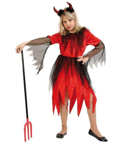 Teufel Rubina Kinder Kostüm Mädchen Gr 128 (Jungen Teufel Kostüme)