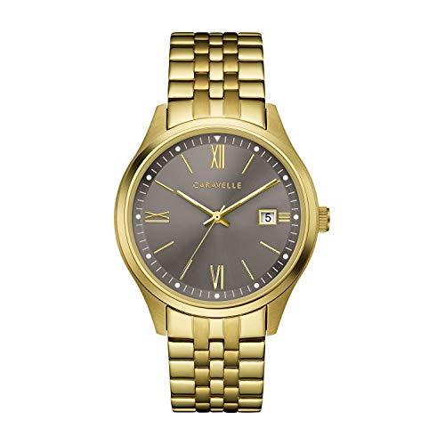 Orologio al quarzo in acciaio INOX da uomo Caravelle, colore: gold-toned (Model: 44B122)
