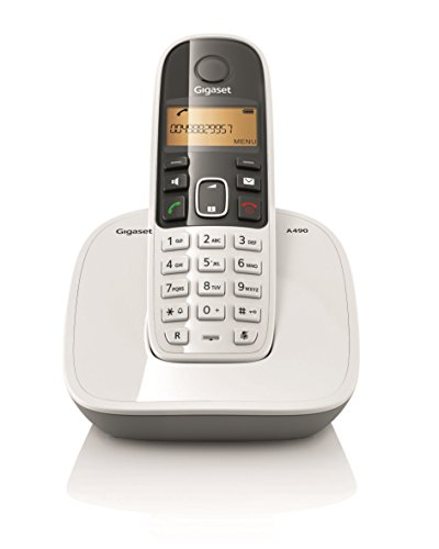 Gigaset A490 Cordless Phone (White)  available at amazon for Rs.2099