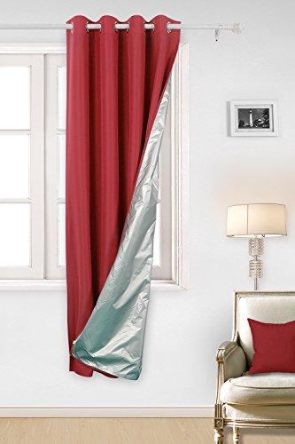 Deconovo Rideau Doublure Isolante Thermique à Oeillets Rideau Isolant Thermique Doublure pour Salle à Manger 135x240cm Rouge