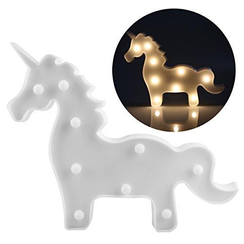 uer Weihnachtsschmuck LED Nachtlampe Nachtlicht Tier Einhorn Lampen Kind Spielzeug Batteriebetrieben- Kinder Geschenk -Dekolampe für Babyzimmer Kinderzimmer (Kind Led Halloween Kostüm)