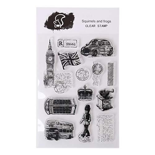 Weishazi London Silikon-Stempel für Scrapbooking, Prägung, Fotoalbum, dekoratives Papier, Karten, Handarbeit, Geschenk