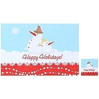 BESTOYARD Adornos de Mesa de Navidad para Mesa de Mantel de Navidad para Restaurante de Cocina casera (muñeco de Nieve diurno)