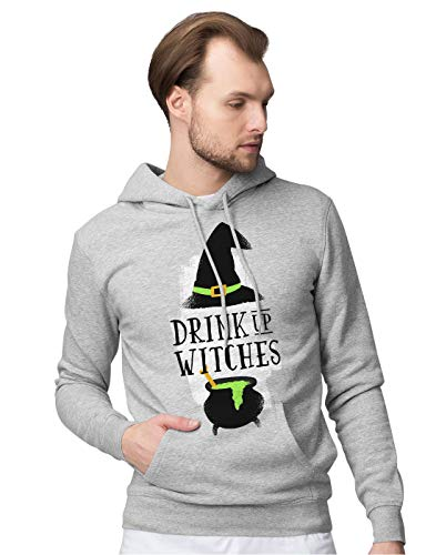 ween Party Slogan Drink Up Witches Unisex Pullover Hoodie XXL ()