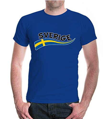 buXsbaum® T-Shirt Schweden-Wave Royal-z-direct