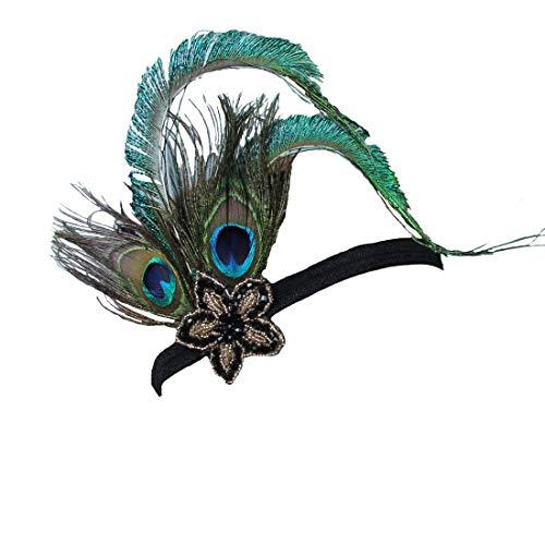 FORLADY Elegante Pfau-Feder-Haarspange Fascinator Haarnadel Stirnband Cocktail Party Mädchen Frauen