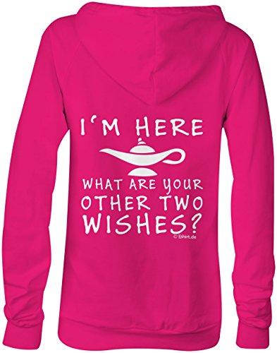I am here what are your other two wishes ★ Confortable veste pour femmes ★ imprimé de haute qualité et slogan amusant ★ Le cadeau parfait en toute occasion pink