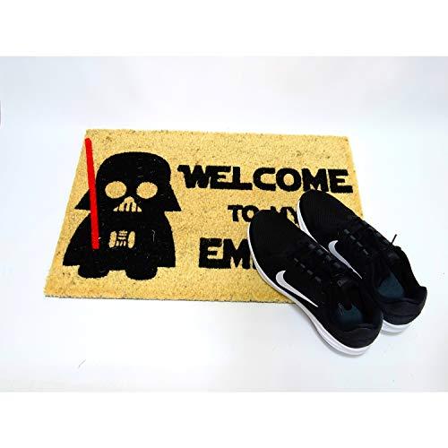 410 9DF1JcL - koko doormats Felpudo de Star Wars para Entrada de Casa Original y Divertido/Fibra Natural de Coco con Base de PVC, 40x60 cm (A-Welcome to my Empire)