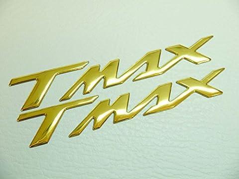 2x Gold T Max Motorrad Badge Emblem Motorrad Fuel Tank Aufkleber Yamaha Tmax