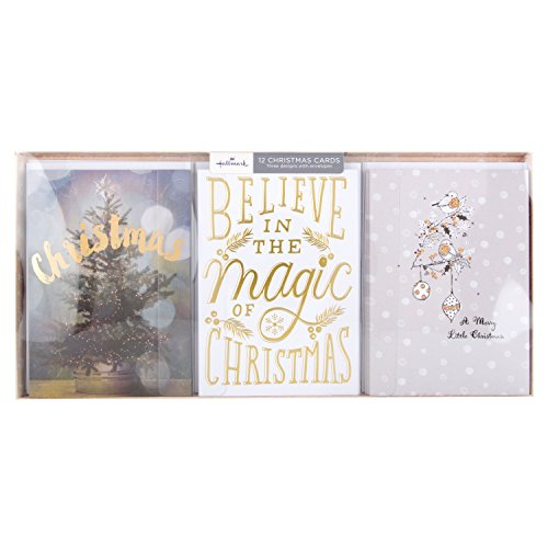 Hallmark Christmas Card Pack Believe in Magic - 12 Cards, 3 Designs