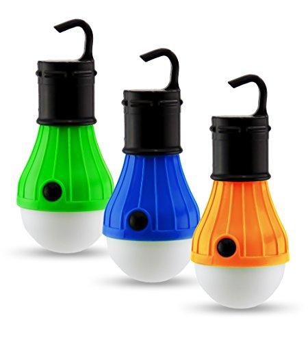 Astorn Mini-Hängelampe, tragbare LED Camping-Leuchte, für ZeltBatteriebetrieben; Camping-Ausrüstung; Lampe für drinnen und draußen.Batteriebetriebene Notfall-Leuchte (3 Stück). - Camping-ausrüstung Zelte Und